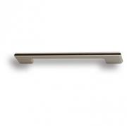 182160MP04PL15 Ручка скоба, матовый никель с коричневой вставкой 160 мм