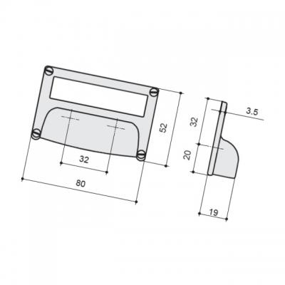 Ручка-скоба 32мм, отделка хром глянец 15333Z08000.36