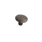 Ручка-кнопка d.36мм, отделка олово старое 8521/825