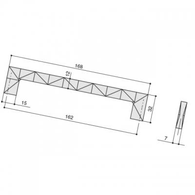Ручка-скоба 160 мм, отделка сталь шлифованная 523060160-66