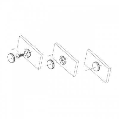 Заглушка декоративная для винта крепления ручки, отделка серебро старое SCR001.014.0015