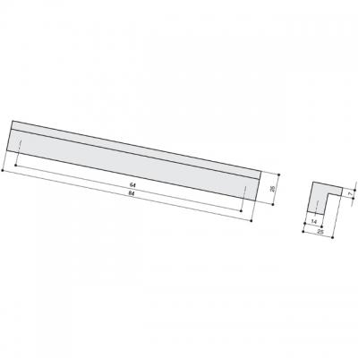 Ручка-скоба   64мм, сталь нержавеющая AB.005.064.SL