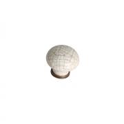 """Ручка-кнопка, отделка бронза античная + керамика """"паутинка"""" 818.CV/CRa"""