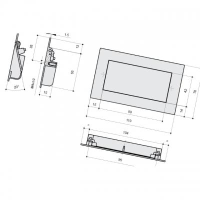 S520360096-66.2 Ручка SPRING-2 врезная 96мм, отделка сталь шлифованная