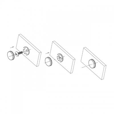 Заглушка декоративная для винта крепления ручки, отделка никель глянец SCR.001.014.0022