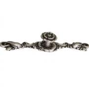 Ручка-кнопка с накладкой, отделка серебро античное 10.830.0128.17