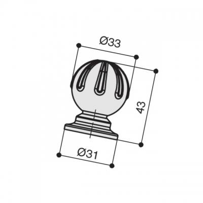 Ручка-кнопка, отделка бронза античная темная S533960033-23