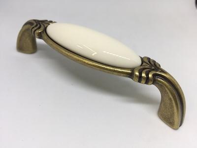 Ручка-скоба 96мм бронза состаренная/керамика WMN.68.01.00.096.D1