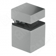 SU20AZVC КВАДРО Менсолодержатель 30х30 мм для деревянных и стеклянных полок 4 - 16 мм, хром матовый
