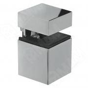 SU20AZCR КВАДРО Менсолодержатель 30х30 мм для деревянных и стеклянных полок 4 - 16 мм, хром