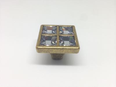"""Ручка-кнопка, отделка бронза """"Валенсия"""" + горный хрусталь 24200Z02700.07"""