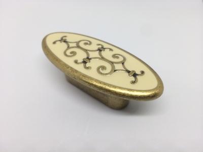 """Ручка-кнопка, отделка бронза """"Флоренция"""" + бежевая эмаль 24134Z07300.L09"""