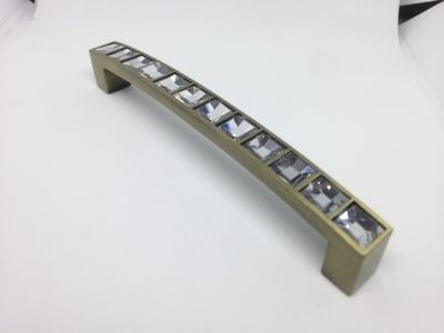 Ручка-скоба с кристаллами, 128мм, хром  CRL02-128 BA