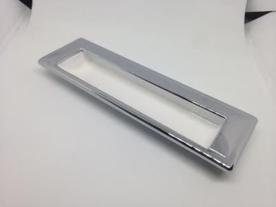 Ручка врезная 128мм, отделка белый глянец + хром глянец 8.1005.0128.70-40