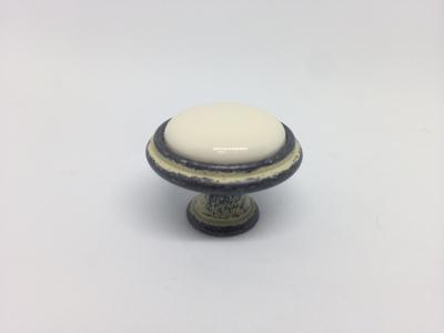 Ручка-кнопка D30мм серебро черненое/слоновая кость керамика WPO.771.000.00C2