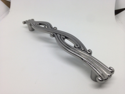 Ручка-скоба 128мм, отделка графит металлик WMN.741X.128.M00G1