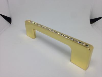 Ручка-скоба 96мм, отделка золото глянец + горный хрусталь CH0102-096.GP