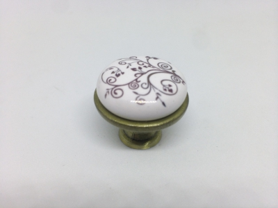 Ручка-кнопкасфарфором,бронза KF01-04 BA