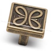 Ручка-кнопка 16мм бронза состаренная 2040.16.23