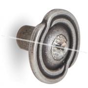 Ручка-кнопка D31мм серебро состаренное с кристаллами Сваровски 2044K.09