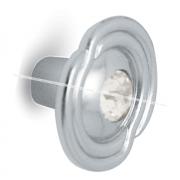 Ручка-кнопка D31мм хром с кристаллами Сваровски 2044K.10