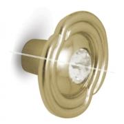 Ручка-кнопка D31мм золото с кристаллами Сваровски 2044K.15