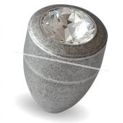 Ручка-кнопка D15мм серебро состаренное с кристаллами Сваровски 2049K.09