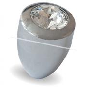 Ручка-кнопка D15мм хром с кристаллами Сваровски 2049K.10