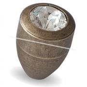 Ручка-кнопка D15мм бронза состаренная с кристаллами Сваровски 2049K.23