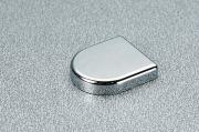 P2CBA06 Заглушка овальная к петле для стекла, отделка хром глянец
