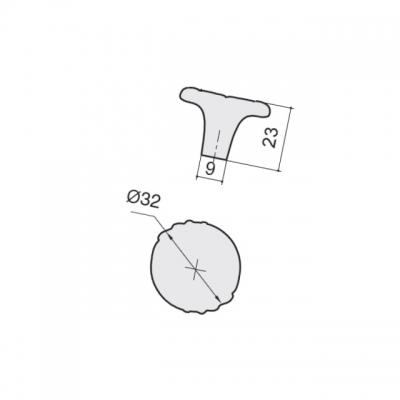 """Ручка-кнопка, отделка золото матовое """"Милан"""" WPO.744Y.000.M00R8"""