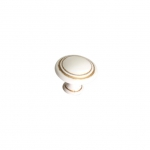 Ручка-кнопка, отделка молочная с золотой патиной WPO.2025Y.30.M00V7
