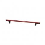 Ручка-скоба 192мм, отделка черный + красный 8.1121.0192.52-3003