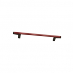 Ручка-скоба 160мм, отделка черный + красный 8.1121.0160.52-3003