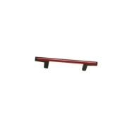 Ручка-скоба 96мм, отделка черный + красный 8.1121.0096.52-3003