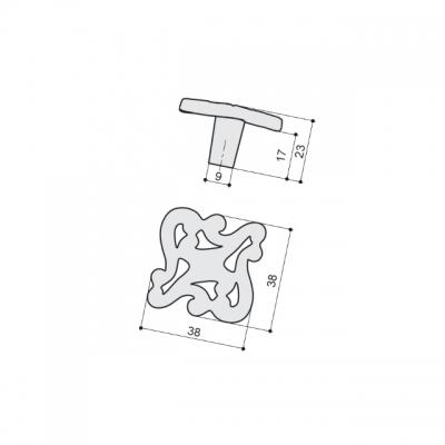 """Ручка-кнопка, отделка бронза античная """"Флоренция"""" WPO.721Y.000.M00D1"""