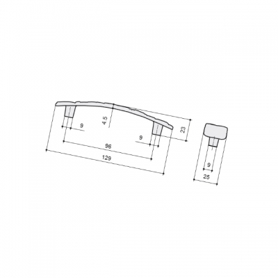 Ручка-скоба 96мм, отделка бронза металлик WMN.712X.096.M00G3