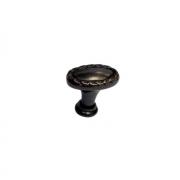 Ручка-кнопка 32х20, отделка медь черная KB-M-3944-32-FB