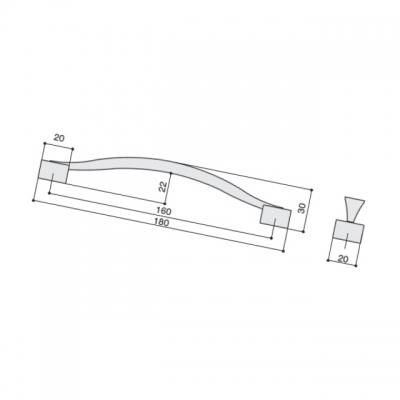 Ручка-скоба 160мм, отделка сталь нержавеющая U12964.G16S