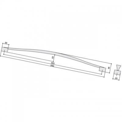 Ручка-скоба 320мм, отделка медь U12964.N52B