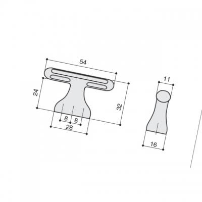 Ручка-кнопка 16мм, отделка железо античное S536360016-22