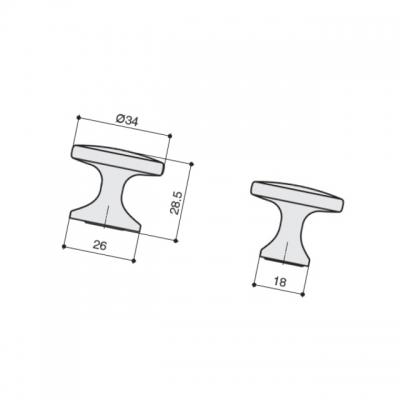 Ручка-кнопка, отделка сталь шлифованная S536460034-66