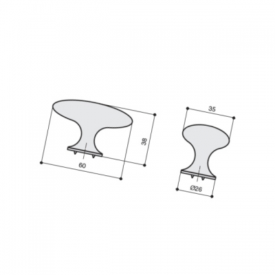 Ручка-кнопка, отделка медь античная S525060060-98-P.1