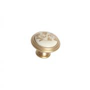"""Ручка-кнопка, отделка золото матовое """"Милан"""" + керамика P88.Y01.H3.MR8G"""