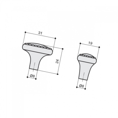 Ручка-кнопка 32х20, отделка бронза английская KB-M-3944-32-E