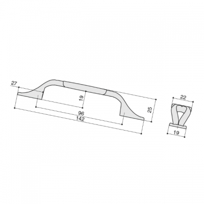 """Ручка-скоба 96мм, отделка бронза античная """"Флоренция"""" + керамика M81.X01.G4.MD1G"""
