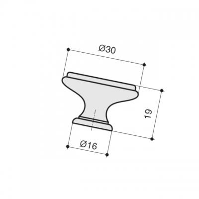 """Ручка-кнопка, отделка бронза античная """"Флоренция"""" + керамика P88.Y01.G4.MD1G"""