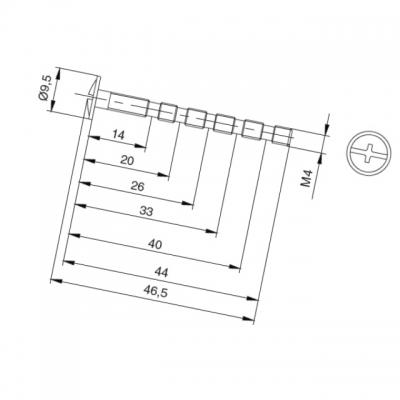 Винт универсальный М4х45мм, отделка бронза (упаковка 30 шт.) HW.007.002_30