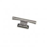 Ручка-кнопка 16мм, отделка серебро античное 9.1336.0016.17N