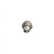 Ручка-кнопка, отделка серебро античное 25.694.B17N